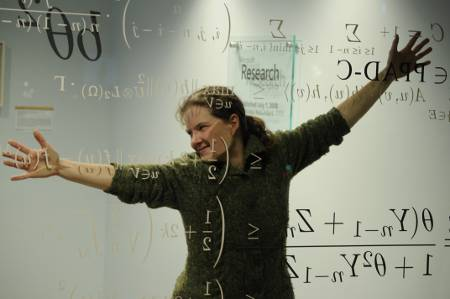 Kate with math equations